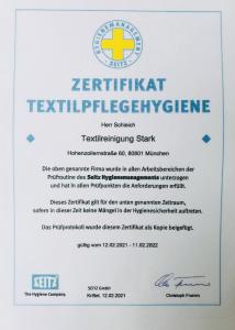 Reinigung Stark München   Hygienezertifikat   Reinigung München